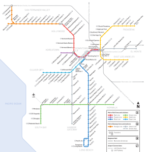 Metro Train Map 2014