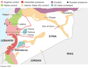 Dispersal of forces throughout Syria