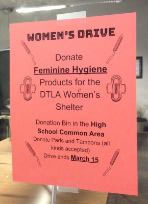 Women for Women: New West Hosts Drive for Feminine Hygiene Products